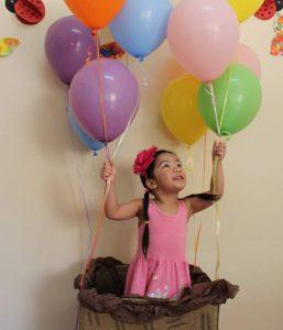 Arya loves balloons
